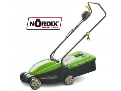 Elektrická sekačka na trávu 1000W, 32cm bez pojezdu