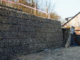 Realizace gabionové zdi - Ledce