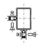 Příchytka plotového dílce - rohová antracit RAL7016 - jackl 60 x 40 mm