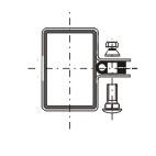 Příchytka plotového dílce - koncová antracit RAL7016 - jackl 60 x 40 mm