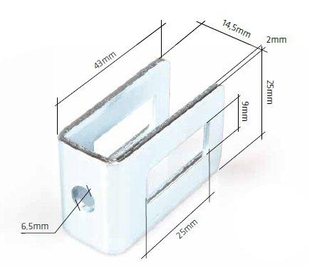 Příchytka plotového dílu do zdi / kovu, zelená RAL6005