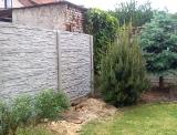 Realizace betonového plotu - Plzeň Bílá Hora