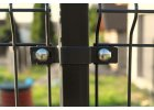 Příchytka plotového panelu na sloupek 60x40 - průběžná, antracit