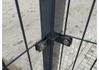 Příchytka plotového panelu na sloupek 60x40 - rohová, antracit