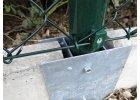 Průběžný držák podhrabové desky, výška 30 cm - pozink