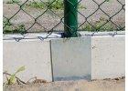 Průběžný držák podhrabové desky, výška 20 cm - pozink