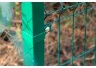 Příchytka plotového panelu na sloupek 60x40 - koncová, zelená