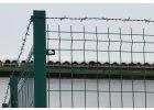 Příchytka plotového panelu na sloupek 60x40 - rohová, zelená