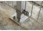Příchytka plotového panelu na sloupek 60x40 - průběžná, zinková