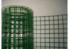 Pletivo na voliéry Zn+PVC, oko 16 x 16 mm, drát 1,2 mm zelené