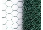 Šestihranné pletivo, zelené PVC, oko 25 mm, 100 cm výška