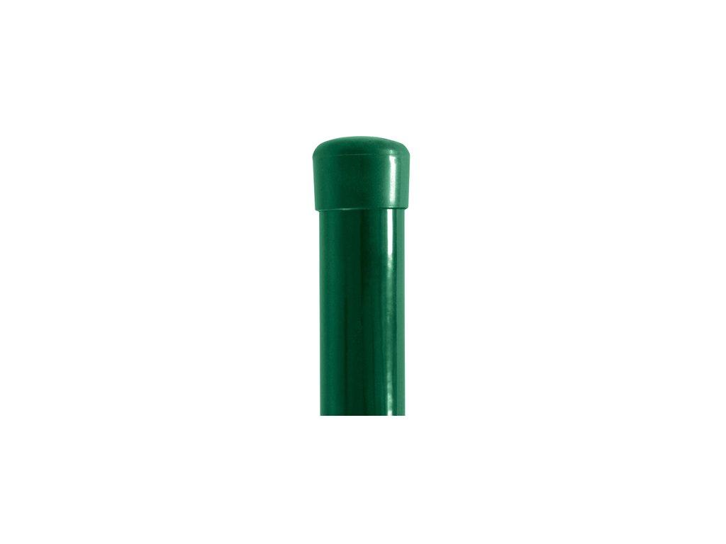 Plotový sloupek zelený průměr 60 mm, výška 375 cm, TENIS