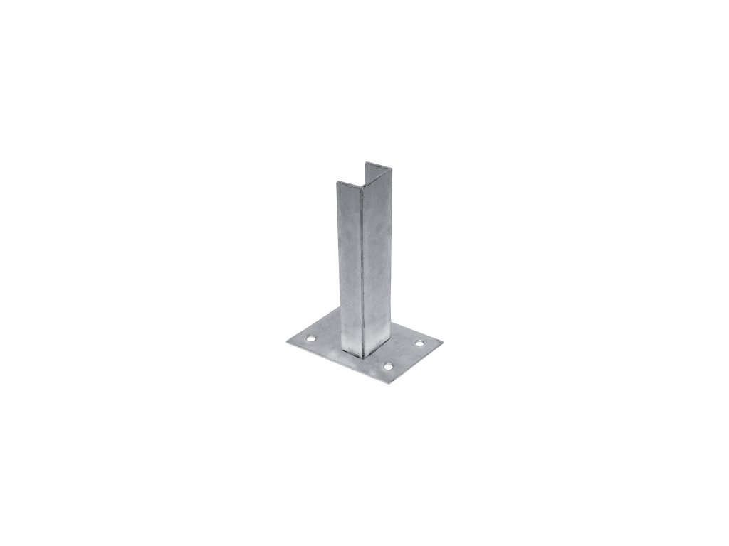 Patka na sloupek 60 x 40 mm pozinkovaná - Zn