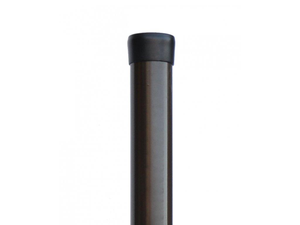 Plotový sloupek hnědý průměr 48 mm, výška 240 cm