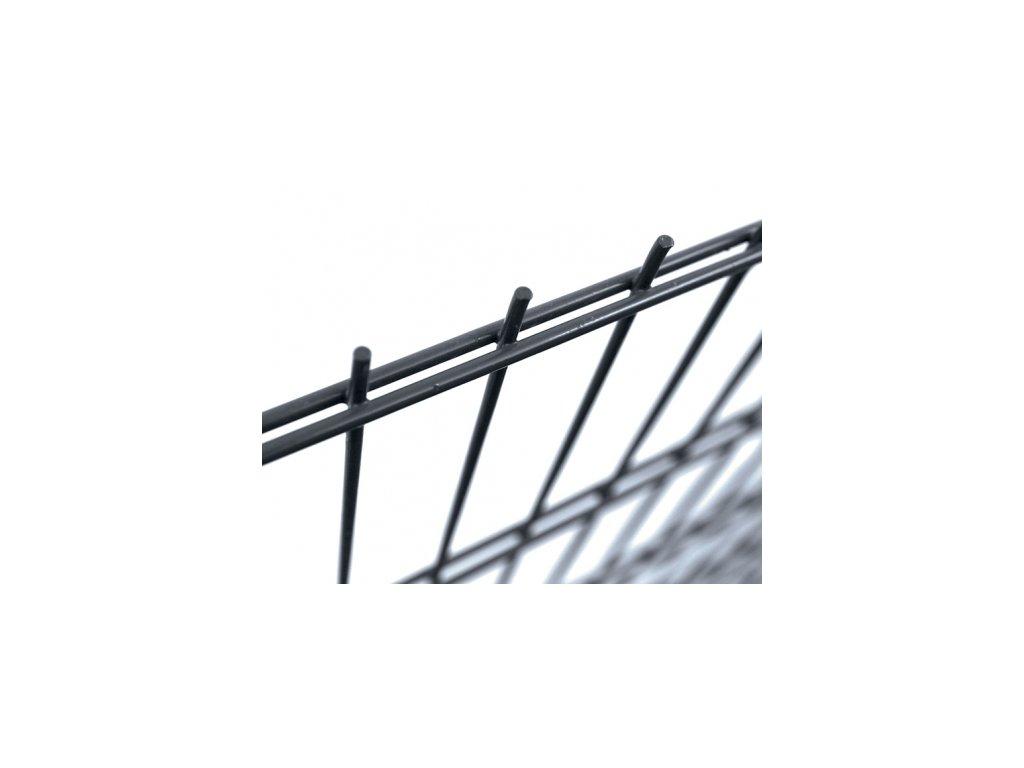 Plotový panel 2D Antracit - výška 123 cm, průměr drátů 6/5/6 mm