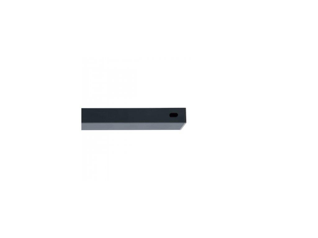 Nosník Zn+PVC antracit, délka 200 cm, 60x40 mm