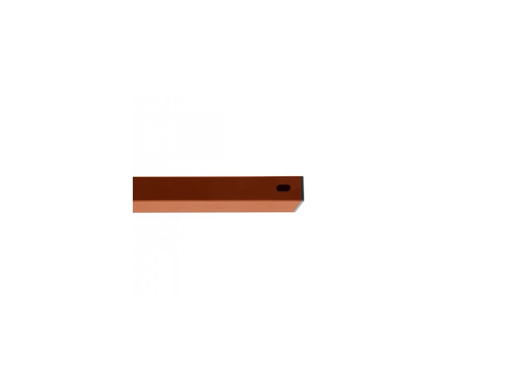 Nosník Zn+PVC červenohnědá, délka 200 cm, 60x40 mm