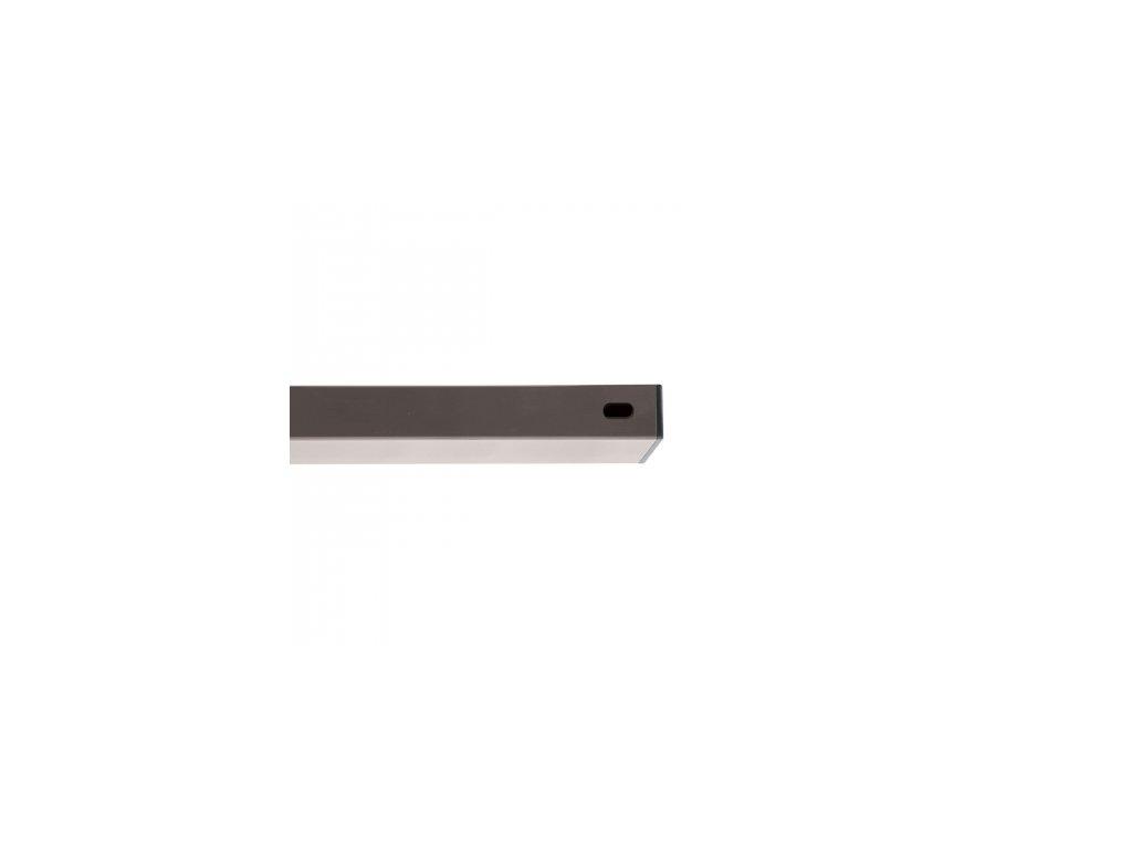 Nosník Zn+PVC šedá, délka 200 cm, 60x40 mm