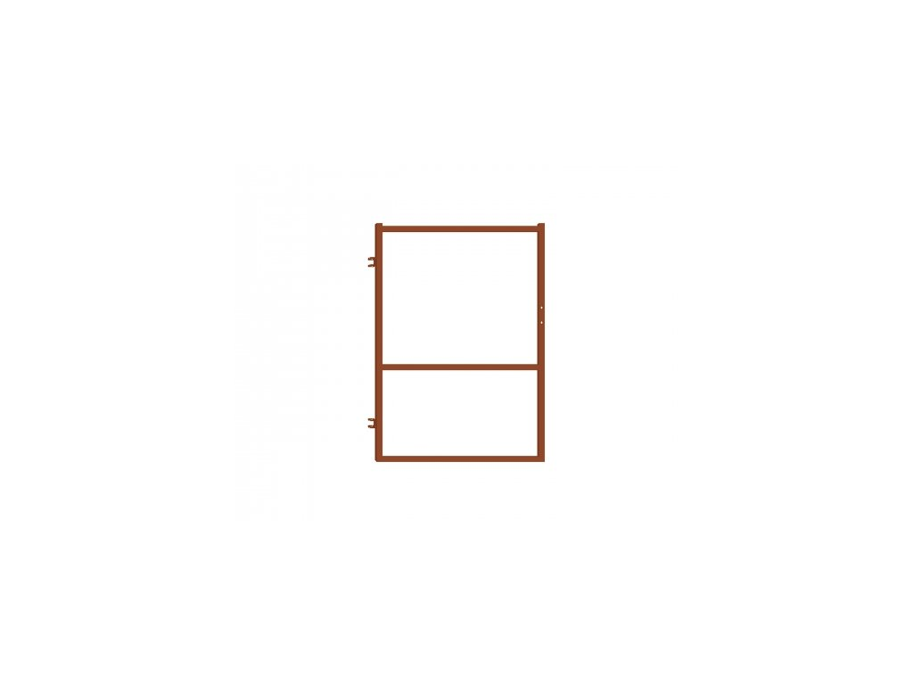Branka pro plotovky - červenohnědá, 90x120 cm