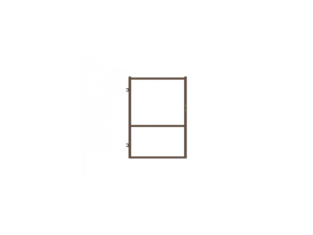 Branka pro plotovky - hnědá, 90x120 cm