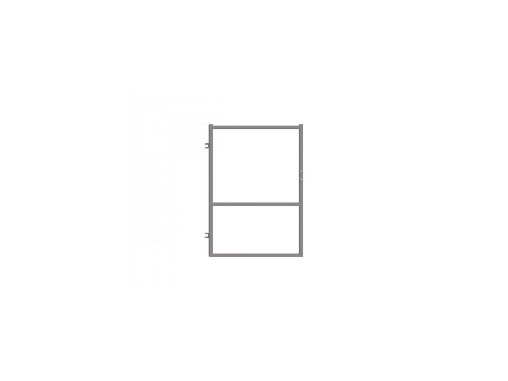 Branka pro plotovky - šedá, 90x120 cm