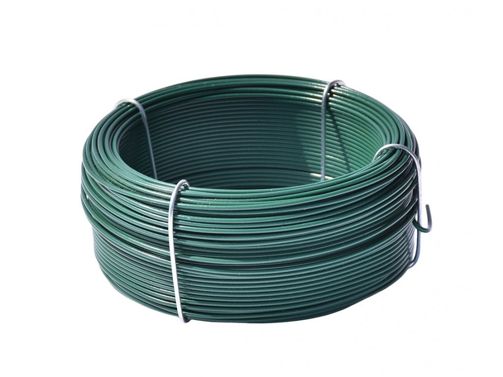vázací drát pvc zelený