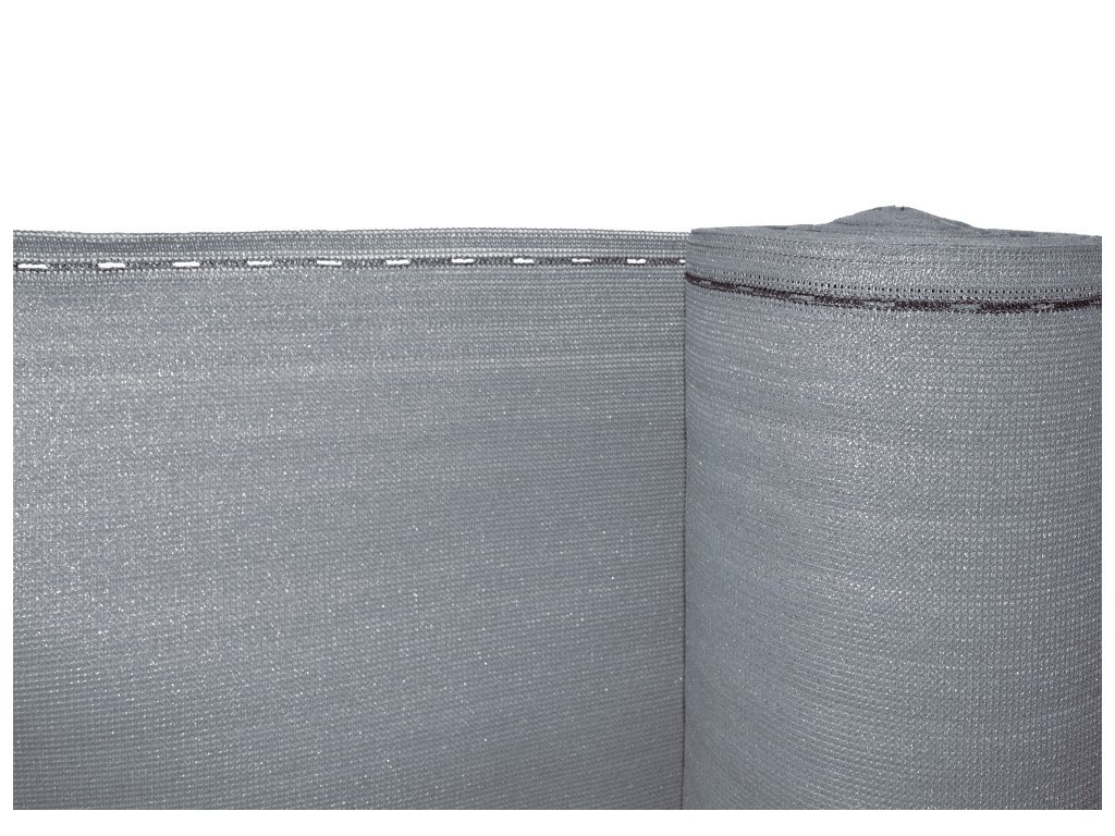 Stínící tkanina, zastínění 90%, výška 160 cm, šedá