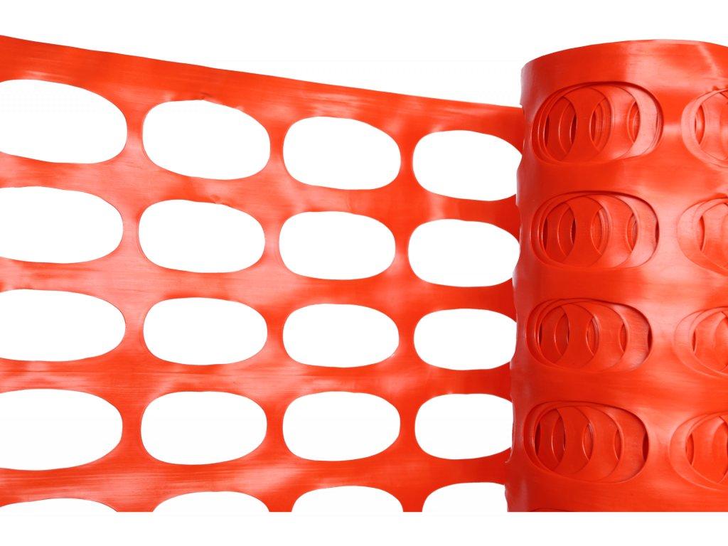Výstražné reflexní pletivo, oranžové, 140 gm2