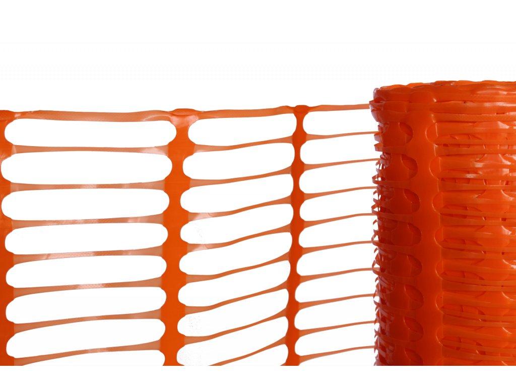 Výstražné reflexní pletivo, výška 100 cm, délka 50 m, oranžové, 80gm2