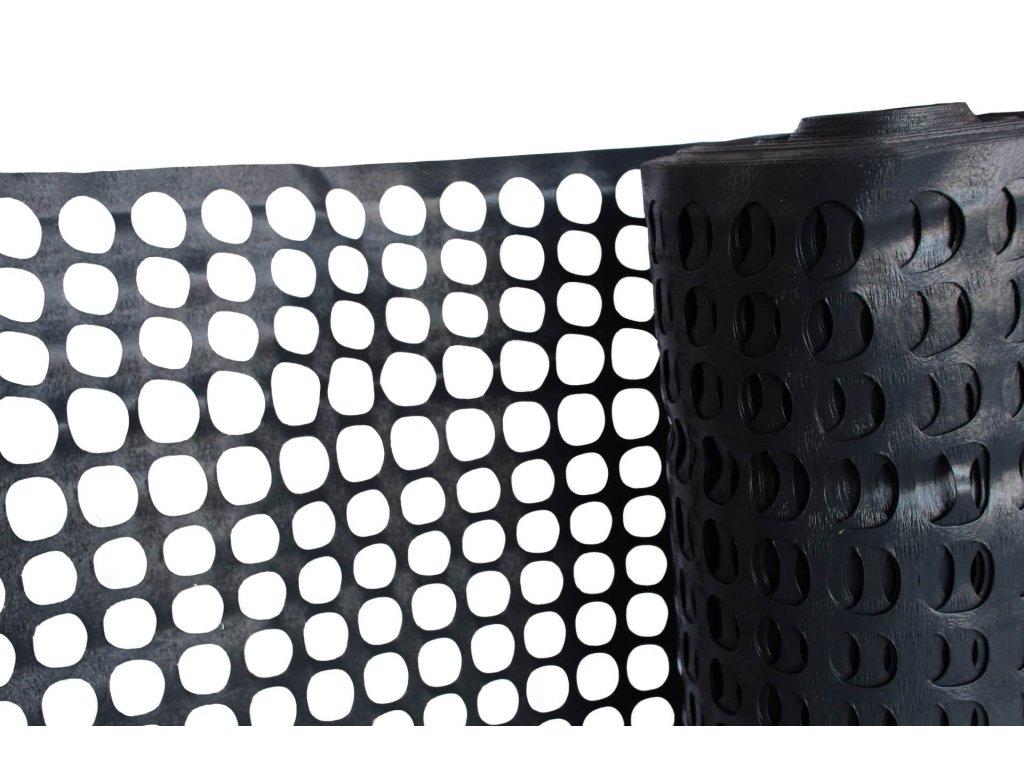 plastový plot, černý, detail 1