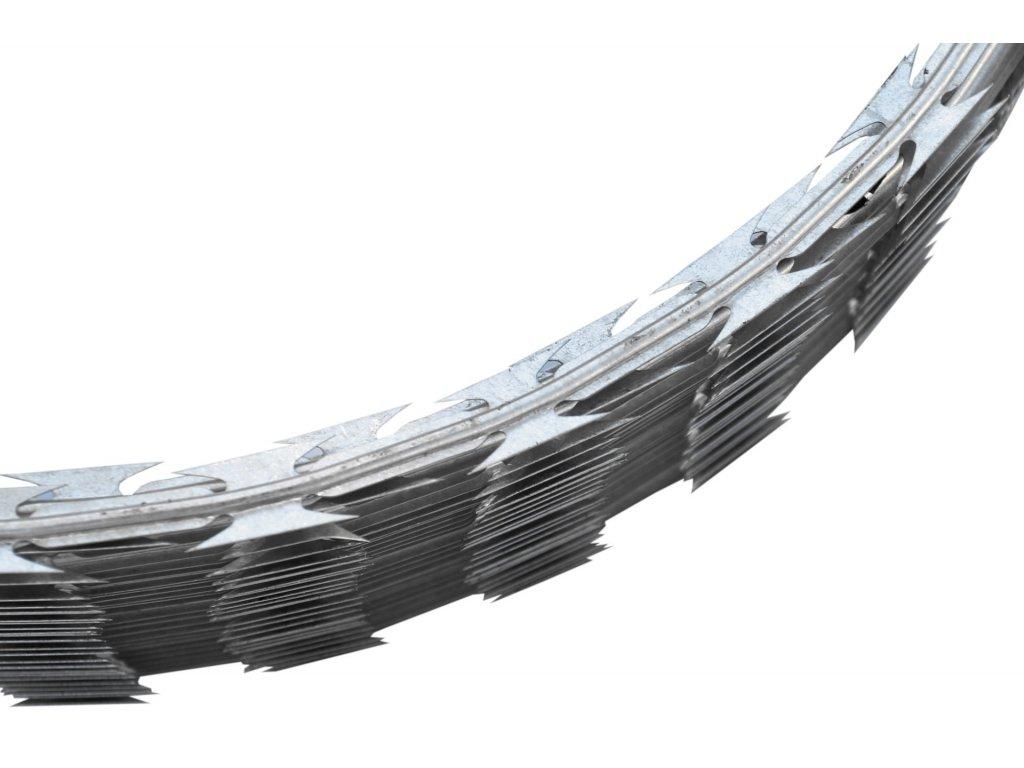 Žiletkový ostnatý drát, spirála – průměr 450 mm, 8-12 m