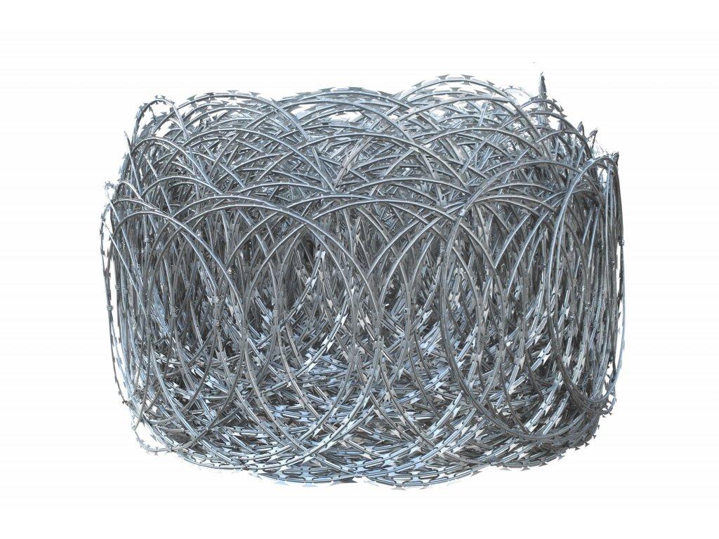 plochý žiletkový drát