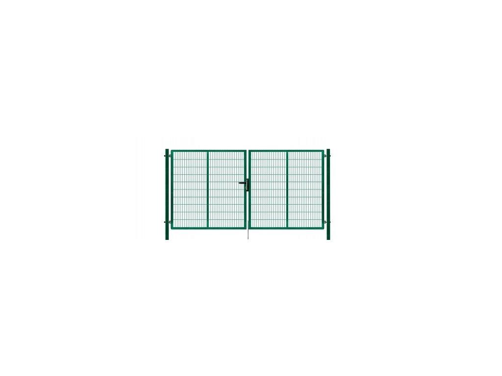 Brána výplň svařovaný panel 2D, výška 180x400 cm FAB zelená