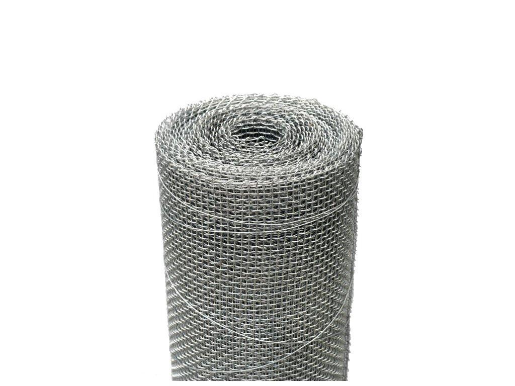 Kovová tkanina Zn síla drátu 1 mm, oko 4x4 mm, výška 100 cm