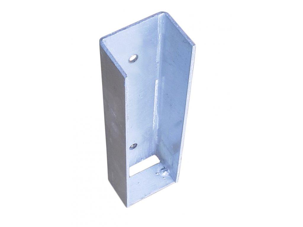 Koncový držák podhrabové desky, výška 20 cm – pozink