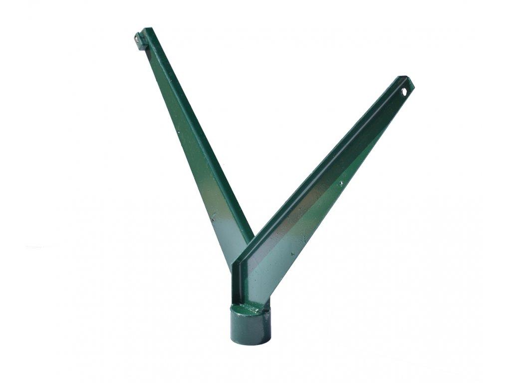 bavolet, tvar V, zelený, na kulatý sloupek
