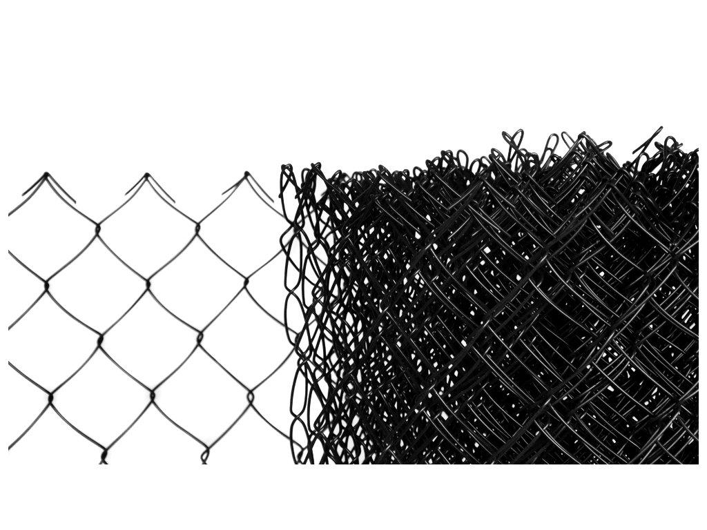 Pletivo poplastované výška 175 cm bez ND (2,5mm;50x50mm;PVC; černé)