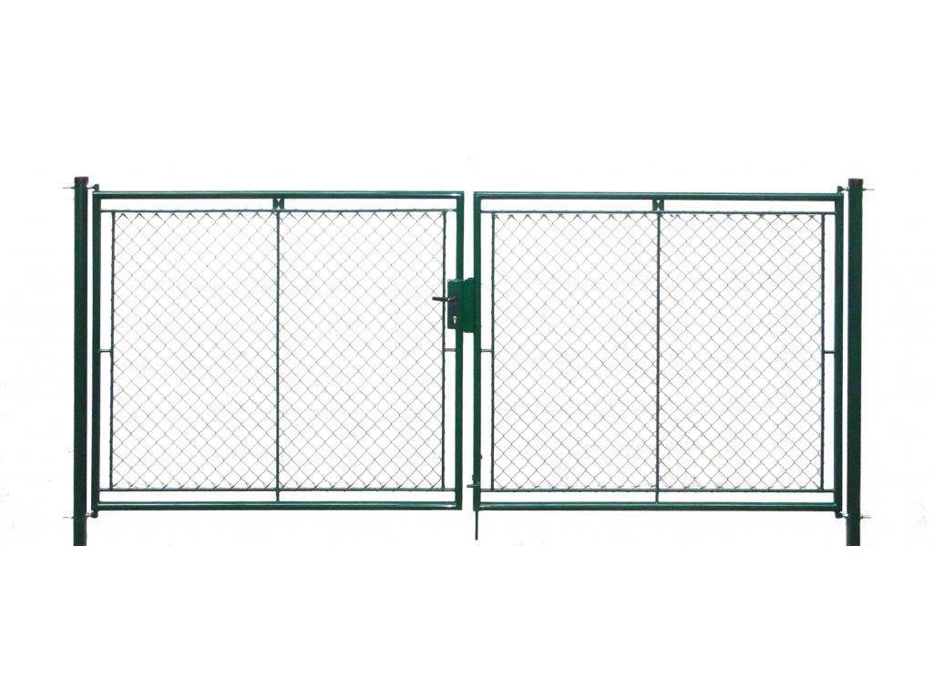 Brána zahradní dvoukřídlá pletivo, výška 100x360cm FAB zelená