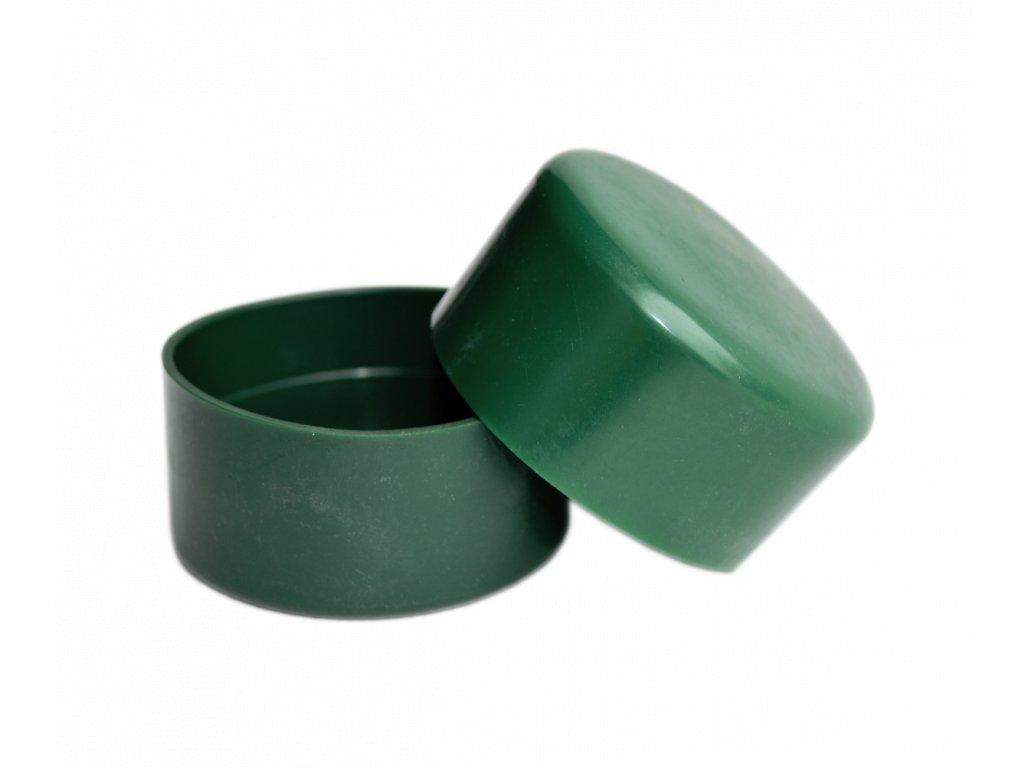 PVC čepička na plotový sloupek zelená, velká