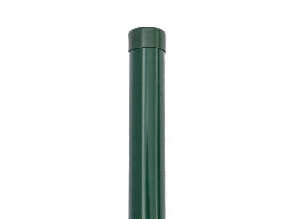 Plotový sloupek zelený průměr 48 mm, výška 300 cm