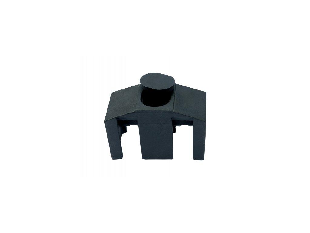 Příchytka panelu 3D na sl. 60x60mm CLASSIC, černá