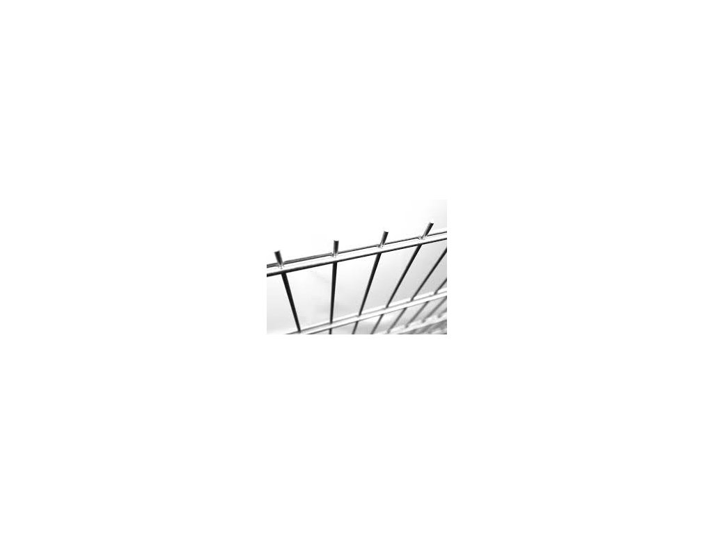 Plotový panel 2D Zn - výška 203 cm, průměr drátu 6/5/6 mm