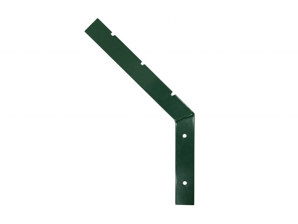 Bavolet jednostranný plochý PVC zelený UNIVERZÁLNÍ