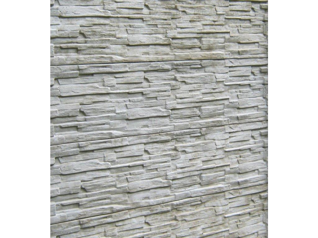 Betonová deska plotová 200x50 cm břidlice