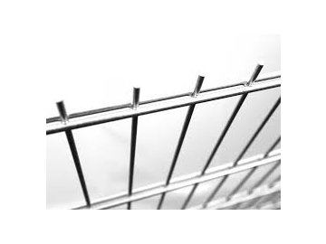 Plotový panel 2D Zn SUPER - výška 123 cm, průměr drátu 8/6/8 mm