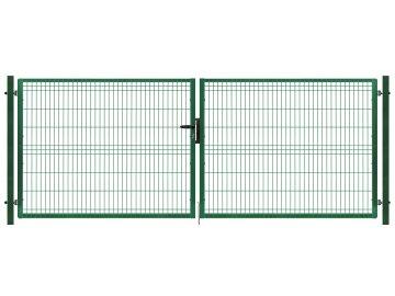 Brána výplň svařovaný panel 3D, výška 125x400 cm FAB zelená