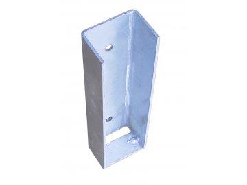 Koncový držák podhrabové desky, výška 30 cm – pozink