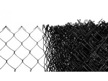 Pletivo poplastované výška 160 cm bez ND (2,5mm;50x50mm;PVC; černé)