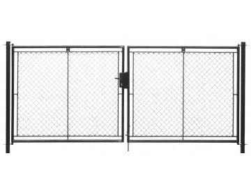 Brána zahradní dvoukřídlá pletivo, výška 100x360cm FAB antracit