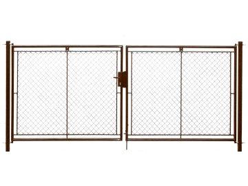Brána zahradní dvoukřídlá pletivo, výška 100x360cm FAB hnědá